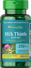 MILK THISTLE STANDARDIZED 250 MG (SILYMARIN) 250 MG / 100 CAPSULES / ITEM #004548