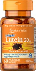 LUTEIN 20 MG WITH ZEAXANTHIN 20 MG / 60 SOFTGELS / ITEM #004901