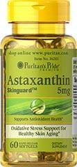 NATURAL ASTAXANTHIN 5 MG / 60 SOFTGELS / ITEM #036203