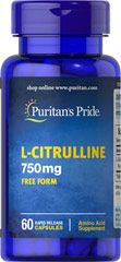 L-CITRULLINE 750MG FREE FORM / 60 CAPSULES / ITEM #057265