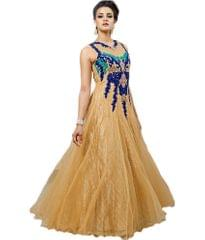 Beige Color Embroidred Designer Gown_KDN233