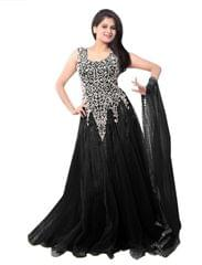 Black Color Net Embroidred Designer Gown_KDN243