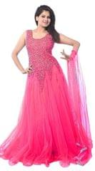 Pink Color Net Embroidred Designer Gown_KDN241