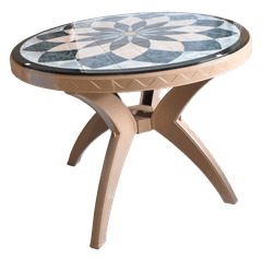 MUKWANO PRINTED TABLE ROUND (ANG LEG)