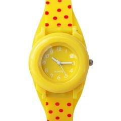 DOTTED DESIGNED KID'S WATCH - YELLOW, RED