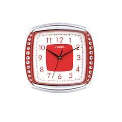 CK 1112 WALL CLOCK SQUARE SHAPE WITH RED AND WHITE