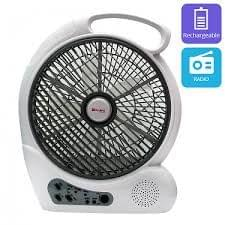 """CK 2193 RECHARGEABLE FAN 12"""" WITH USB SLOTE"""