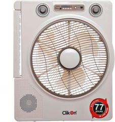 """CK 2802 RECHARGEABLEFAN WITH MUSIC PLAYER 12"""""""