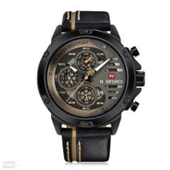 NAVI FORCE CHRONOGRAPH WATCH IN BLACK COLOUR