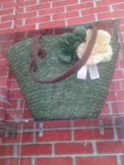 Beach Bag In Green Color