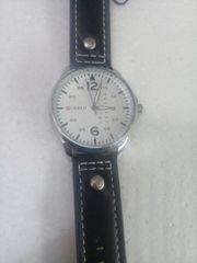 Leather Ladies Watch In Black Color