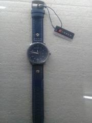 Leather Ladies Watch In Blue Color