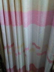 Pink And White Curtains Per Meter