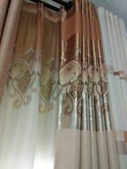 Brown And White Curtains Per Meter