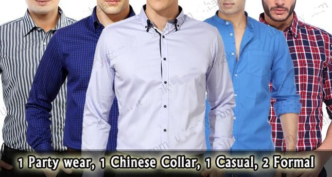 Combo of 5 Branded Shirts