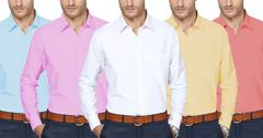 Branded 5 Coloured Cotton Casual Shirts !