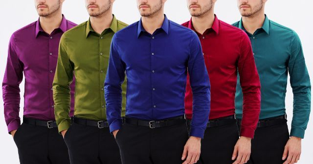 Branded Blend Of 5 Cotton Shirts!