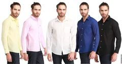 "BRANDED 5 Pure Linen Shirts ""JUMBO"" Offer!"