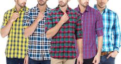 LBranded Check Shirt (Pack Of 5)