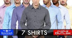 BRANDED COMBO OF 7 STYLSIH PREMIUM SHIRTS