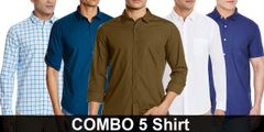Combo of 5 Cotton Shirts