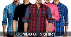 Combo Of 5 Cotton Shirt