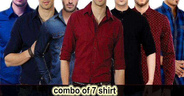 Combo of 7 Cotton Shirts