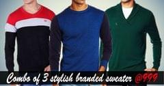 Combo of 3 stylish branded sweater
