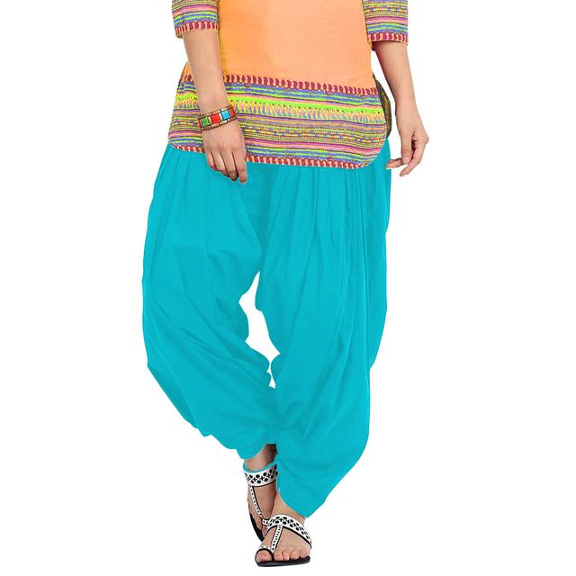BrandTrendz Skyblue Cotton Patiala Salwar
