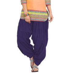 BrandTrendz Purple Cotton Patiala Salwar