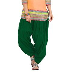BrandTrendz Green Cotton Patiala Salwar