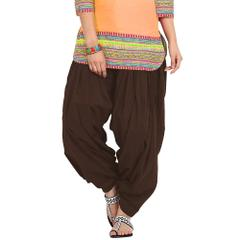 BrandTrendz Brown Cotton Patiala Salwar