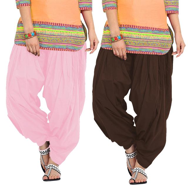BrandTrendz Set of 2 Cotton Patiala Salwar
