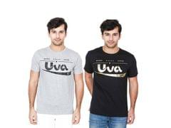 BrandTrendz Uva Pack of 2 Solid T-shirt