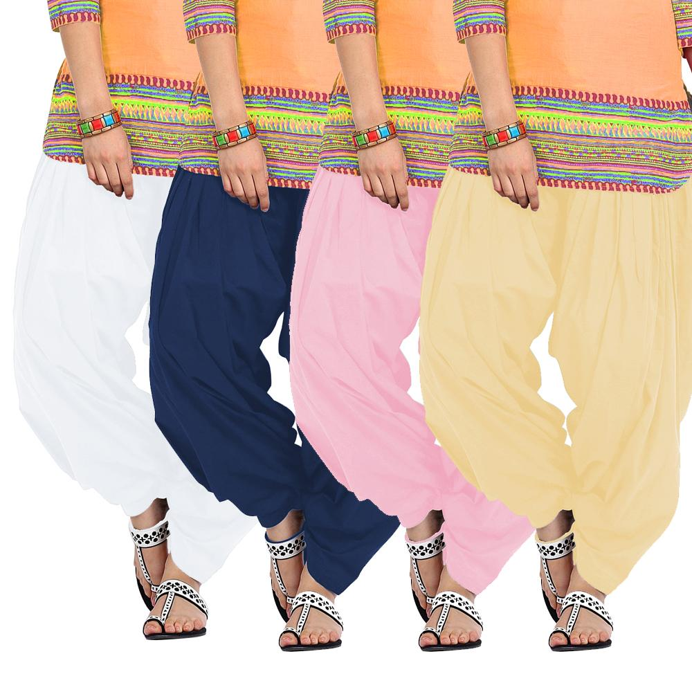 BrandTrendz Set of 4 Cotton Patiala Salwar