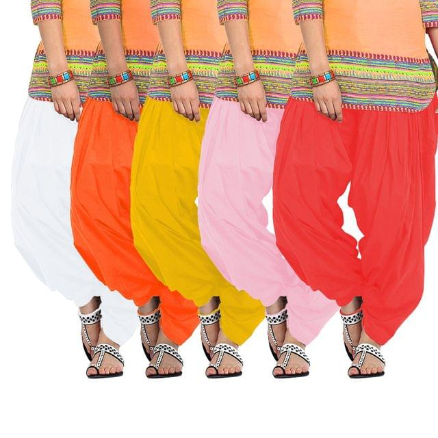 BrandTrendz Set of 5 Cotton Patiala Salwar