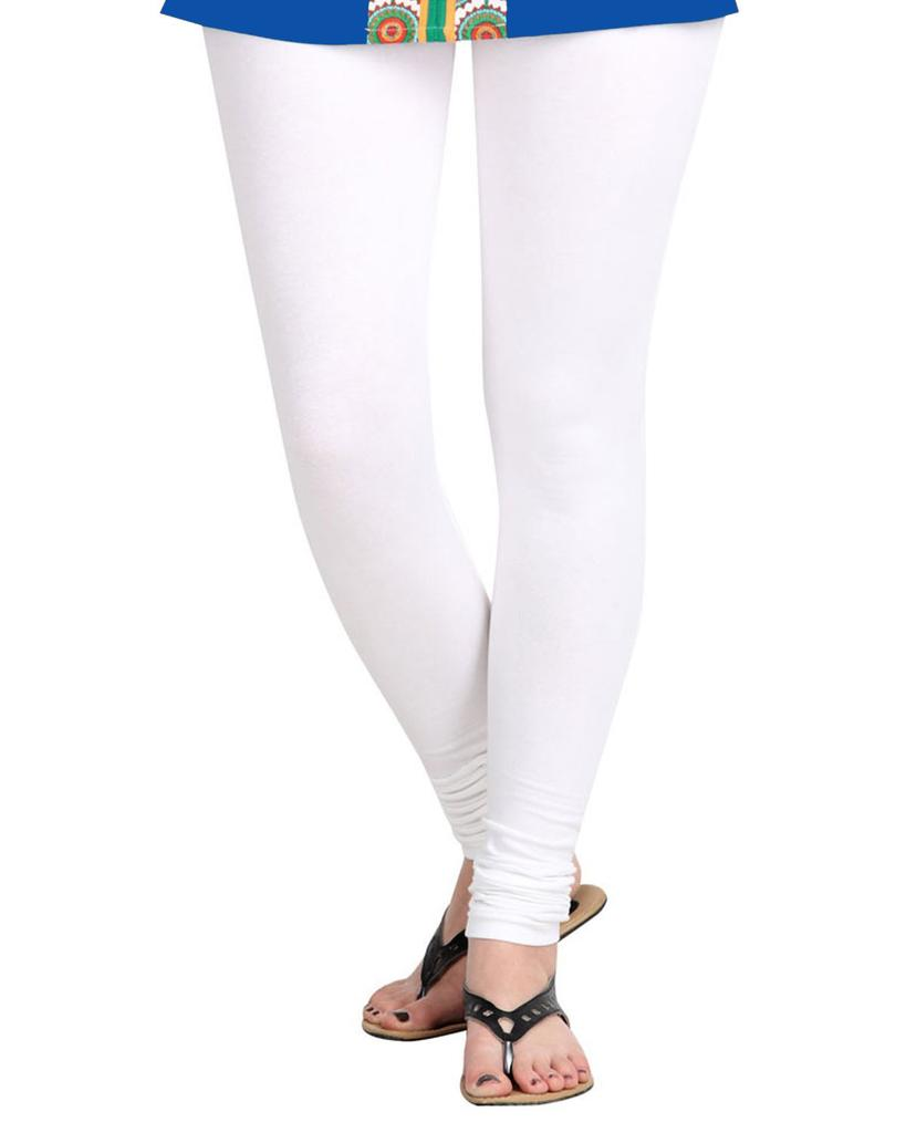 BrandTrendz White Cotton Leggings