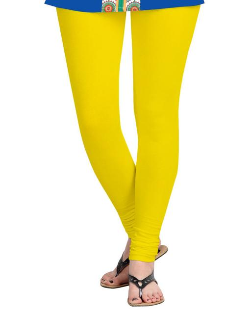 BrandTrendz Yellow Cotton Leggings