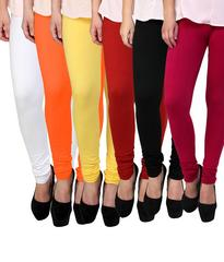 BrandTrendz MultiColor Cotton Pack Of 6 Leggings