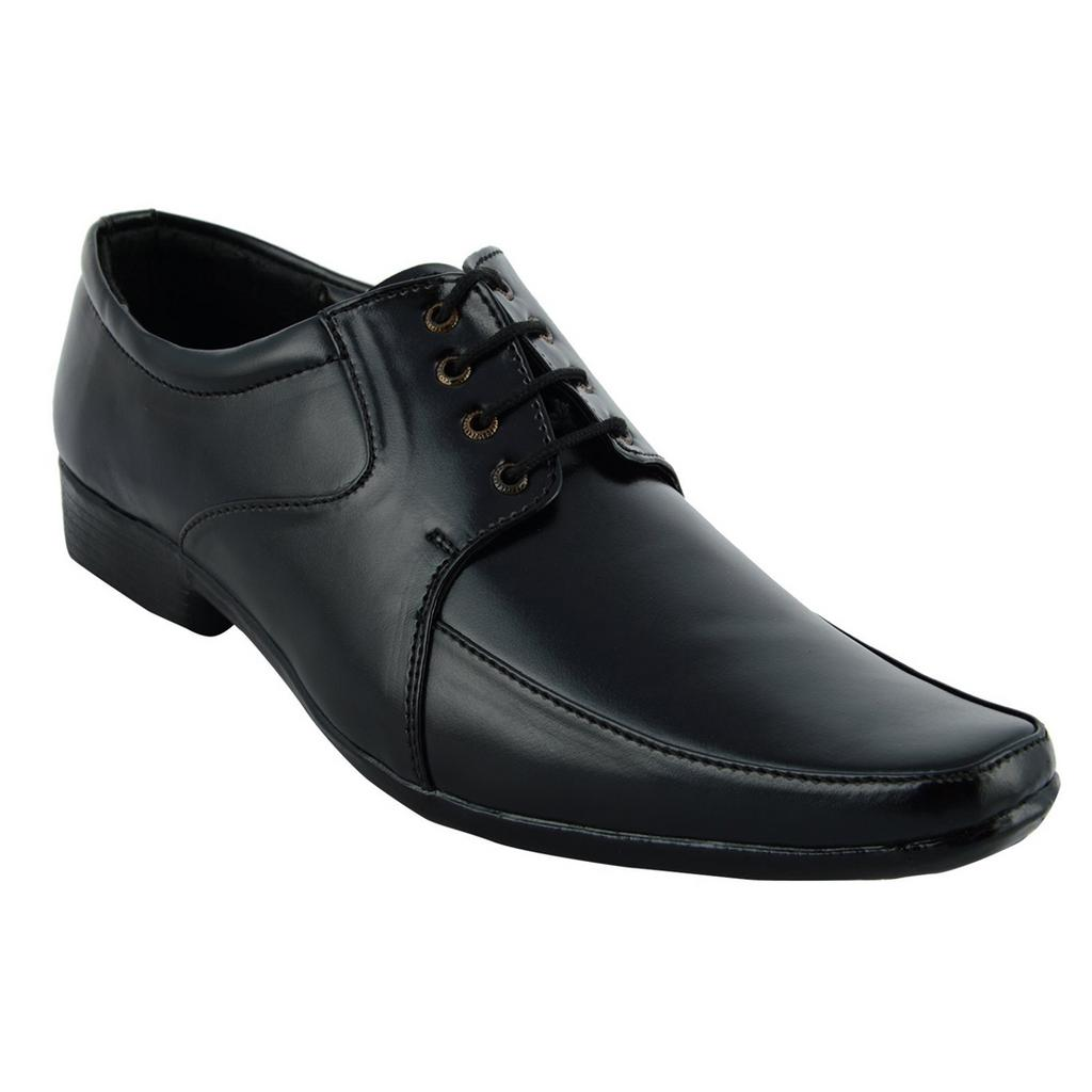 BrandTrendz Black Lace Up Shoes