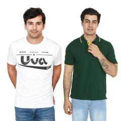 UVA Pack of 2 Multi T-shirts