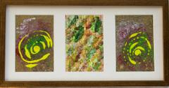 Abstract set of 3 small Paintings