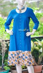 Blue cotton kalamkari Kurti
