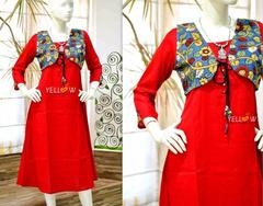 RED COTTON KURTI!