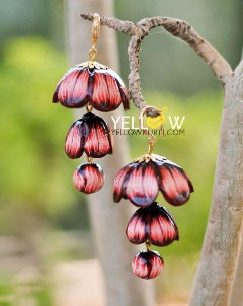 SHADED FLORAL STEP JHUMKAS!