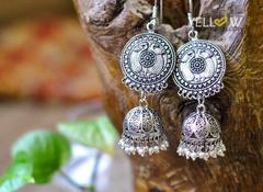 German Silver Circle Jhumka