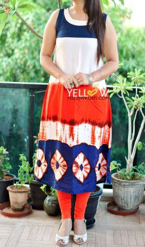 TIE AND DYE UMBRELLA KURTI