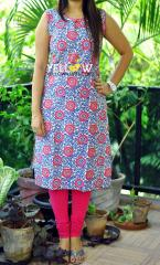Printed floral Kurti with potli button