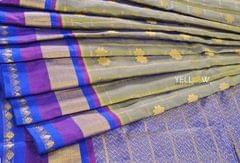 Gadwal silk saree with checks and Flower Motifs