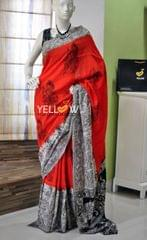 Bangalore Silk Kalamkari Saree
